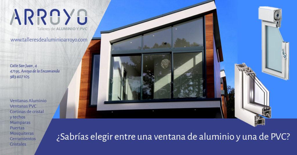 Diferencias entre ventanas de aluminio y PVC